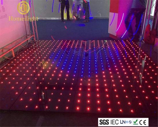 Warm Wedding Decoration Floor Sound Active Full Color RGB Dancing Floor