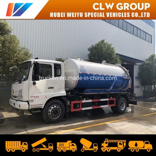 8m3 10m3 Dongfeng 4*2 High Pressure Sewer Sludge Vacuum Sewage Suction Truck