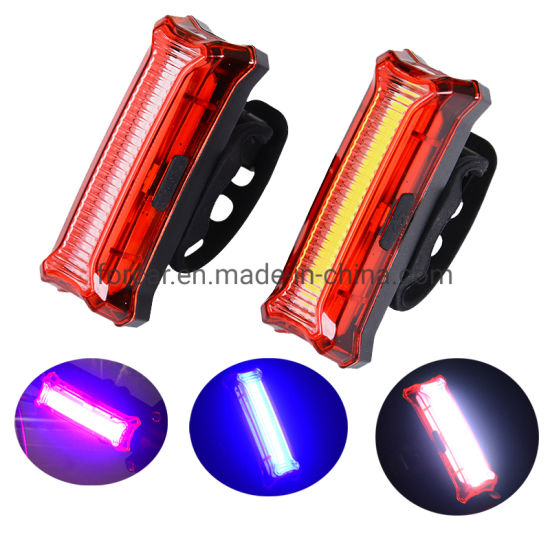 COB Bike Tail Light USB Rechargeable Warning Night Bicycle Cycling Lamp pictures & photos