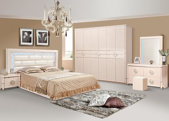 Top Seller Modern Double Bedpaingting Turkish Style Bedroom Furniture Wall Bed King Bed