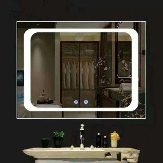 China Led Bathroom Mirror Touch Screen, Defog Bathroom Mirror