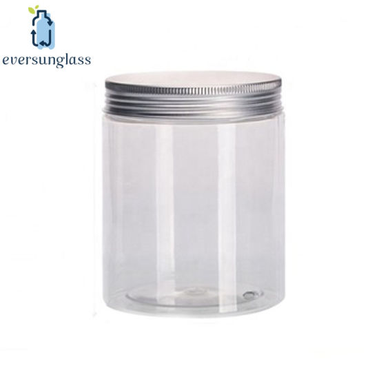 Clear Plastic Pet Cylinder Salad Cream Jar with Cap pictures & photos