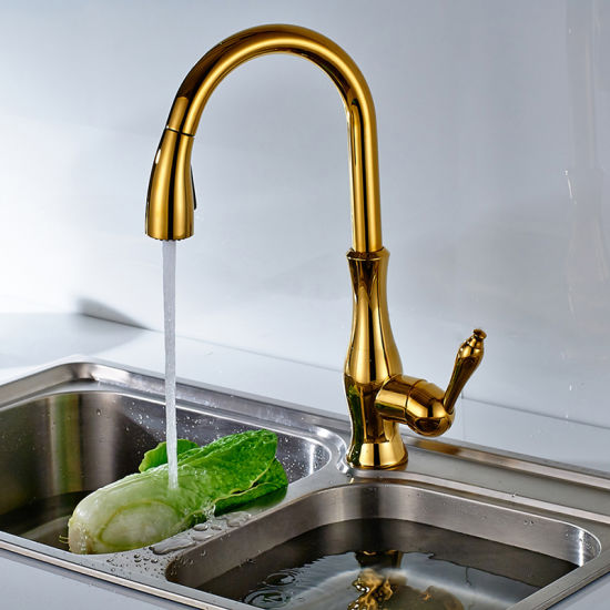 FLG Kitchen Faucets Sanitary Ware Kitchen Gold Faucet Taps pictures & photos