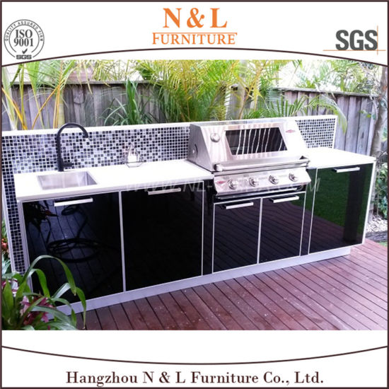 N&L BBQ Lacquer Stainless Steel Outdoor Kitchen Cabinets pictures & photos