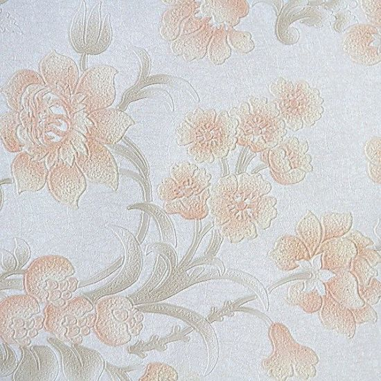 Top Selling Korea Style Wallpaper with Nice Vertical Line Wall Paper PVC Waterproof Material