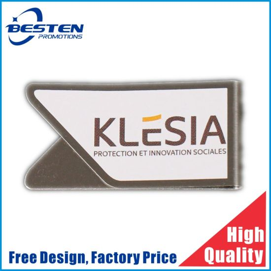 Custom Logo Wholesale Metal Money Paper Clips with Special Shape Manufacturer