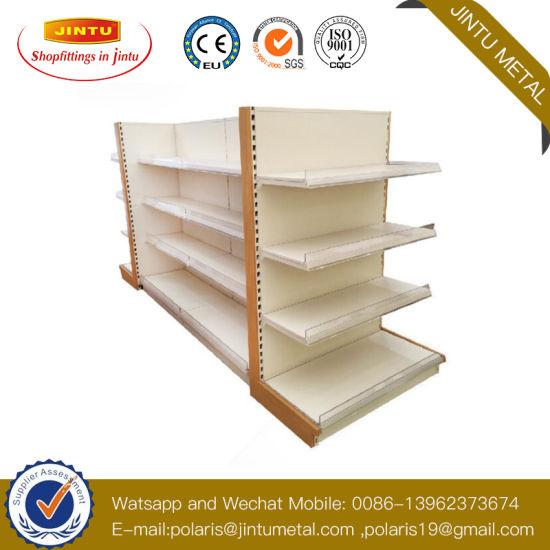 Customized Wooden /Metal Supermarket Gondola Display Shelf/Storage Rack for Retail
