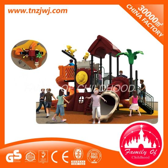 Children Playhouse Equipment Outdoor Playground with Slide pictures & photos