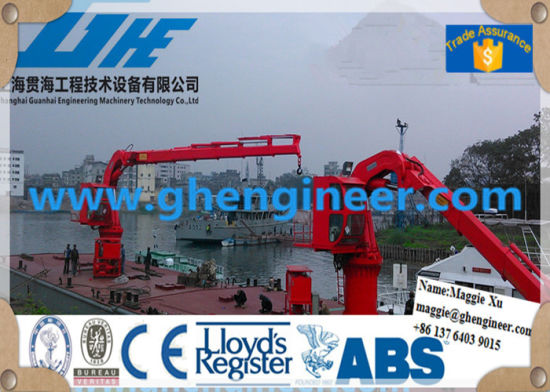 6t12m Knuckle and Telescopic Boom Marine Crane pictures & photos