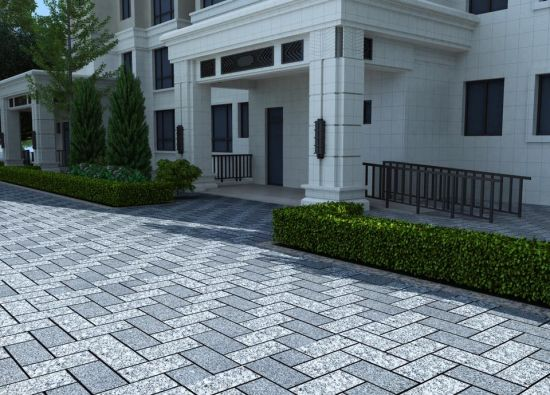 Flamed/Bush-Hammered/Sandblast/Honed/Grey/Beige/Black Natural Granite/Basalt Flooring Outdoor Kerbstone/Curbstone/Paving/Paver/Pavement Stone pictures & photos