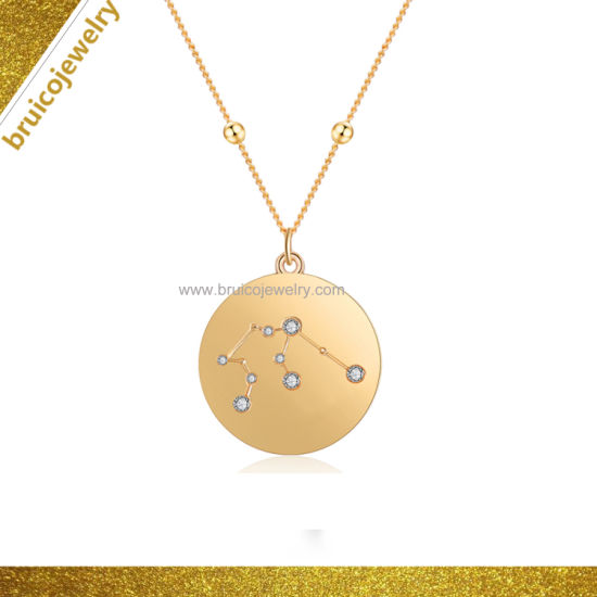 Jewel Zone US 14k Gold Over Sterling Silver Personalized Necklaces Pendants with Letters for Man or Women