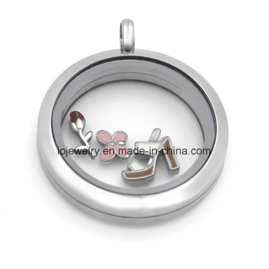 20mm 25mm 30mm Round Magnetic 316 Stainless Steel Floating Locket Pendants