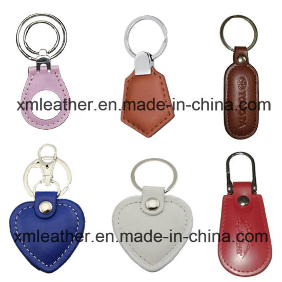 Custom PU Leather Cute Key Chain Key Ring for Promotion