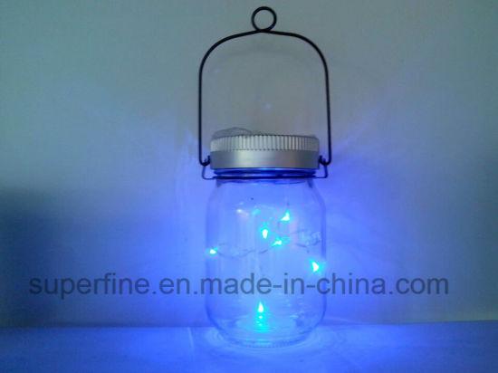 China Romantic Solar Energy Hanging Luminary Mason Jar