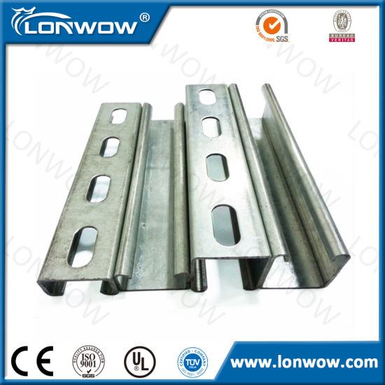 Hot Dipped Galvanized Steel Unistrut Channel Strut C Channel pictures & photos