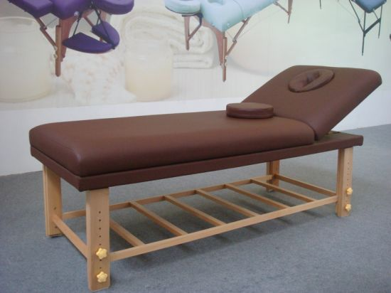 Wooden Stationery Massage Table (SM-002) pictures & photos
