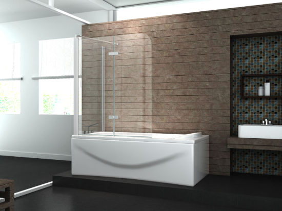 Low Price Bathtub Frameless Simple Hinge Bathroom Bath Screen Nano pictures & photos