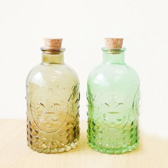 Milk Bottle Tea Cereal Food Container Kitchen Storage Glass Flask Leakproof Cor Lid