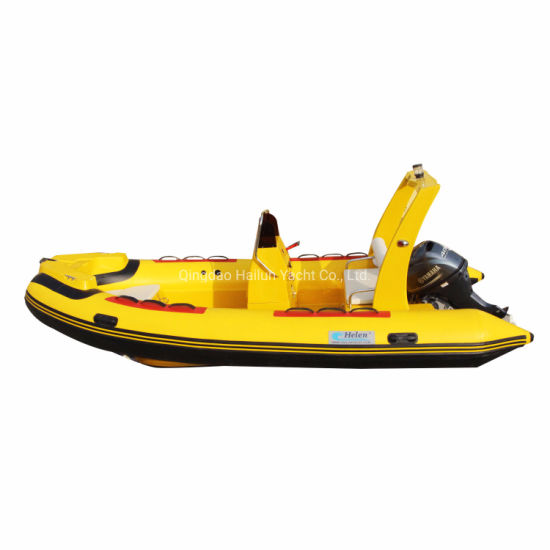 17 Feet Rib Boat Fiberglass Boat Cruise Sport Boat 5.2m Boat