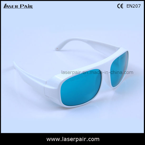3a71e6813a14 Laser Safety Glasses   Eye Protection Spectacles for Red Light Therapy  Machine (RHP 600-700nm) with White Frame 52