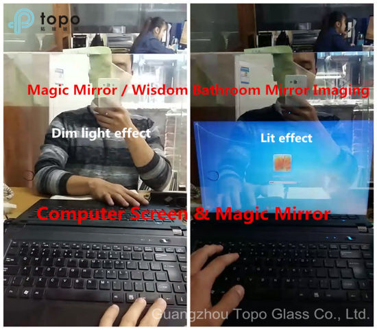 3mm-8mm Smart Magic Mirror / Wisdom Bathroom Mirror Imaging Glass (S-F7) pictures & photos