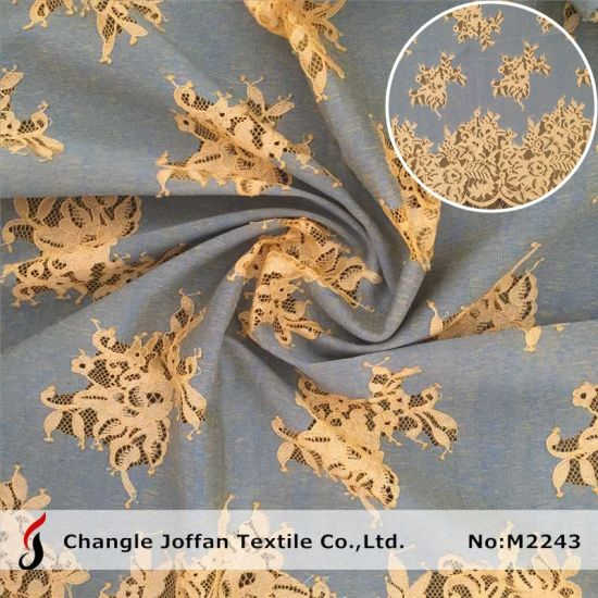 Fashion Dress Fabric Lace Fabric Polyester African Lace (M2243)