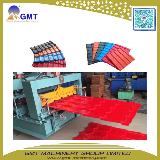 PVC+PMMA/ ASA Roll Forming Coloured Glaze Roofing Sheet Machine