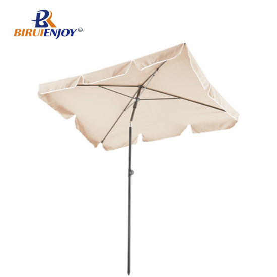 Popular Square Outdoor Polyester Fabric Beach Umbrella for Holiday