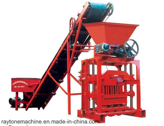 Qtj4-35b2 Hollow Cement Block Machinery Concrete Brick Making Machine