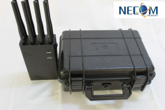 High Power 8 Antenna Jammer Kit for Sale - VHF UHF Cell Phone Jammer (3G, GSM, CDMA, DCS) , Powerful Handheld GPS WiFi/4G Signal Jammer Blocker Cellphone Jammer pictures & photos