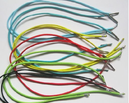 Wholesale Yellow Waxed Thin Round Sport Shoe Laces pictures & photos
