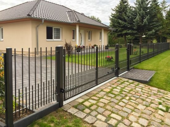 Decorative Residential Safety Automatic Sliding Gate/Steel Driveway Gate