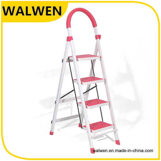 Top Safe Aluminum 6 Wide Step Folding Attic Ladder pictures & photos