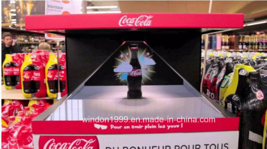 Full HD Holographic Virtual Projection Hologram Pyramid Display Showcase