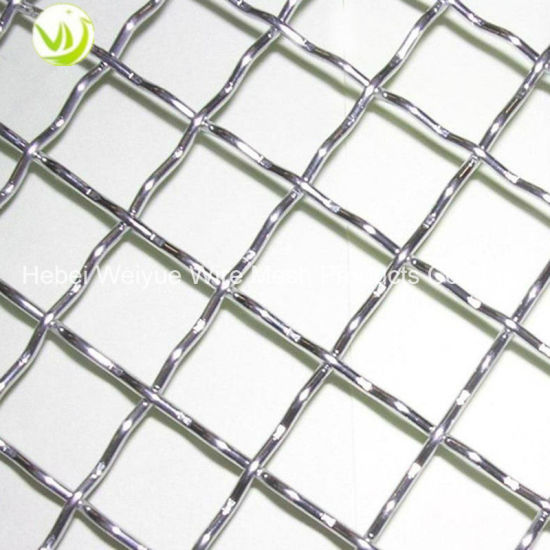 China SS316 Stainless Steel Square Decorative Woven Crimped Wire ...