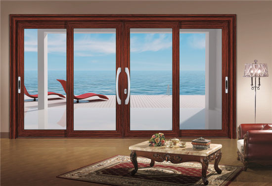 Horizontal Aluminium Sliding Glass Window with Grills Design pictures & photos