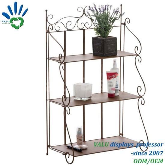 Reusable Newest 4 Tiers White Classical Metal Garden Stacking Racks U0026  Shelves