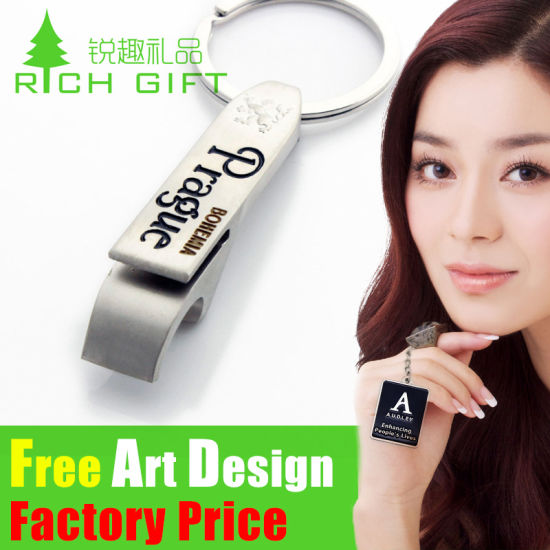Wholesale Promotion House Shaped Metal PVC Custom House Keyring pictures & photos