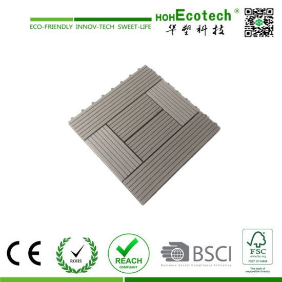 Anti-Slip WPC DIY Tile/ Wood Composite Interlocking Decking Tiles pictures & photos