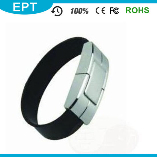 OEM Leather PU Wristband Customized USB Flash Drive (TL005) pictures & photos