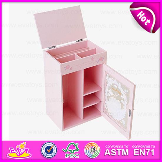 China Beautiful Design Wooden Jewelry Box for Kids Hot Selling