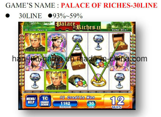 Palace of Riches-30 Line Slot Arcade Gambling Casino Game Machine