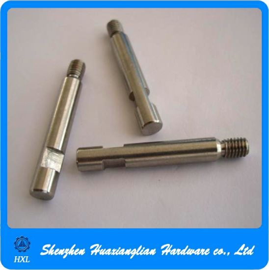 Precision Machined Parts Gear Motor Stainless Steel Threaded Shaft pictures & photos