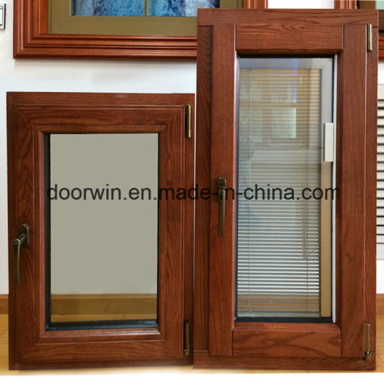 Solid Oak Wood Aluminum Window for Middle East Palace, Style of Aluminum Window with Built-in Environmantal Shutters