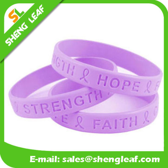 High Quality Persoalized Blank Silicone Bracelets