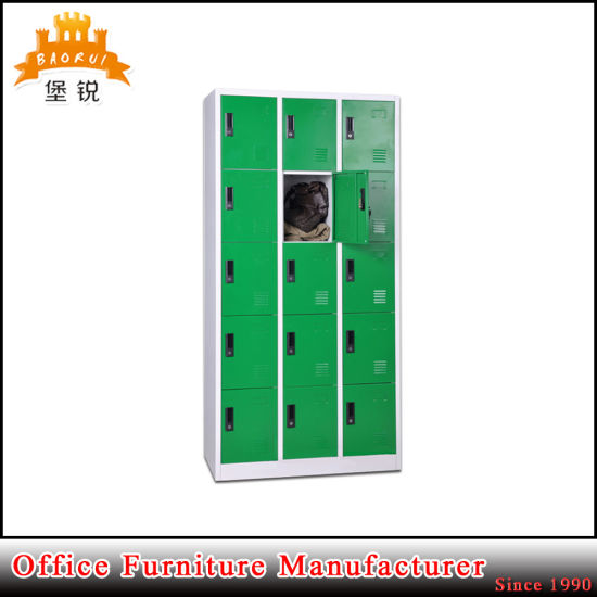 Colorful 15 Doors Compartment Staff Metal Cabinet Steel Locker pictures & photos