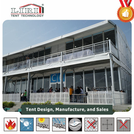 Two Storey Double Decker Structure with Glass Wall and ABS Wall pictures & photos
