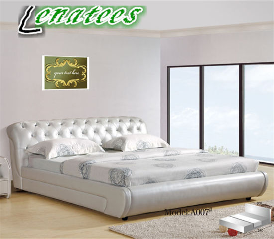 7417b850681a China A007 Modern Leather French Bedroom Furniture - China French ...