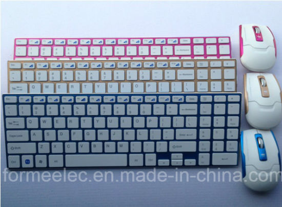 Wireless Mouse Keyboard Computer Laptop Keyboard with Aluminum Alloy