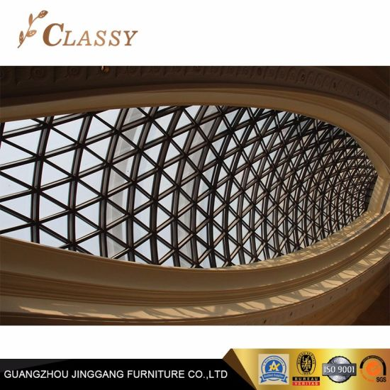 Black Stainless Steel Triangular Pattern Roof Hall Decorative Screen